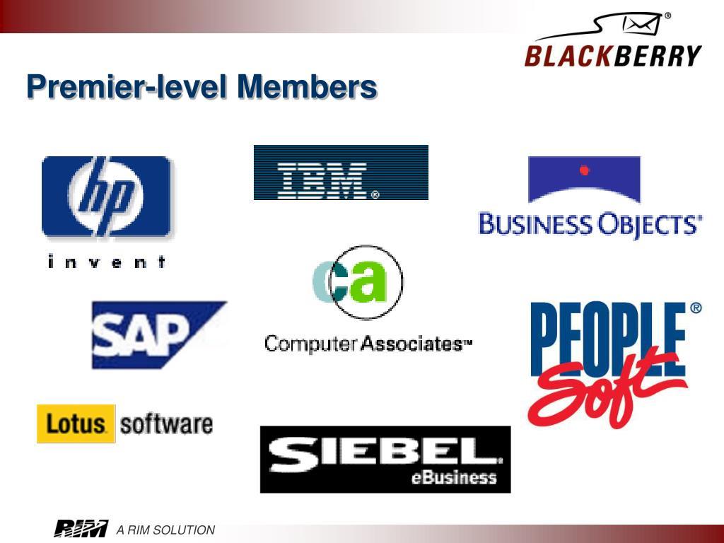 Premier-level Members