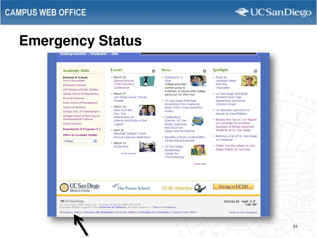 Emergency Status