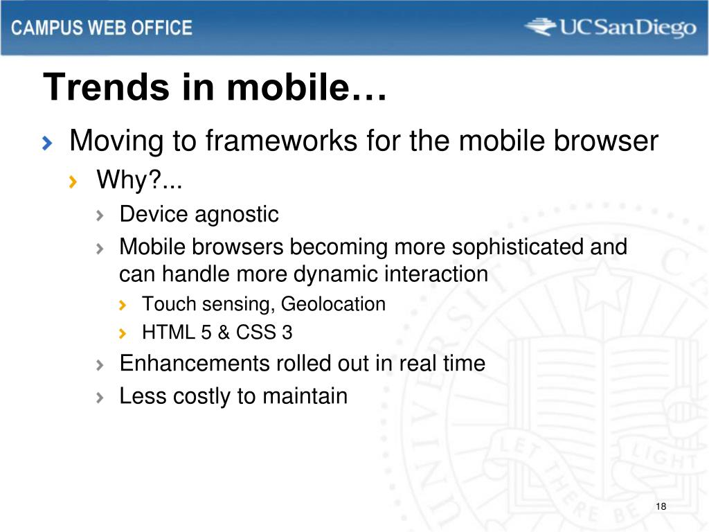 Trends in mobile…