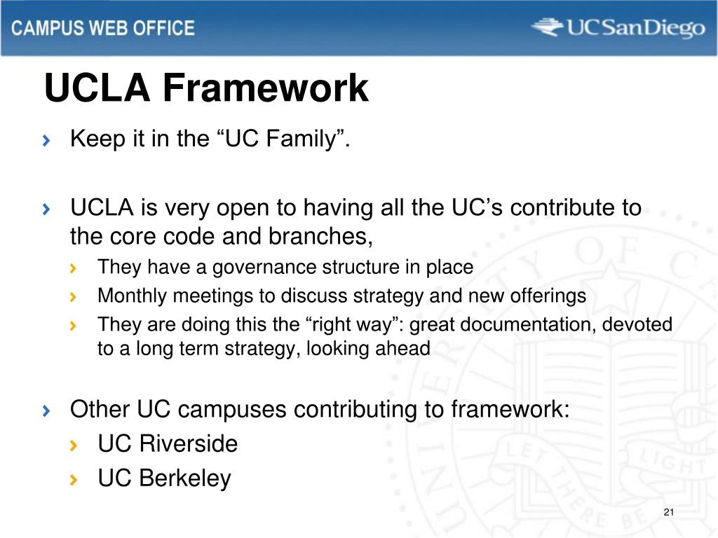 UCLA Framework