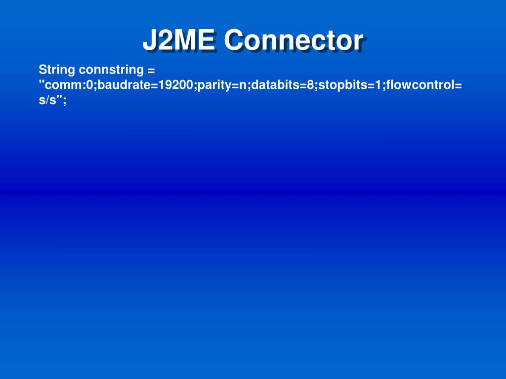 J2ME Connector