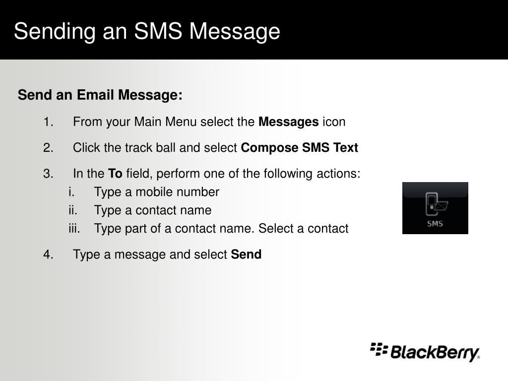 Sending an SMS Message