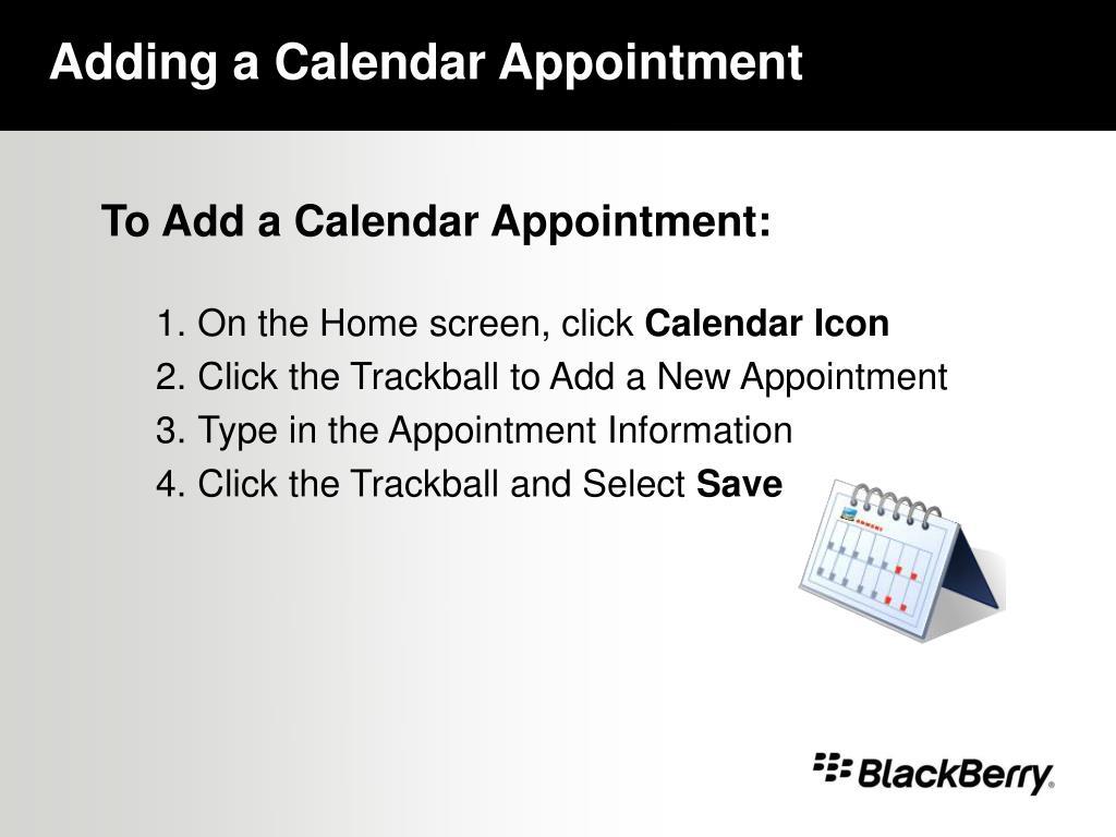 Adding a Calendar Appointment