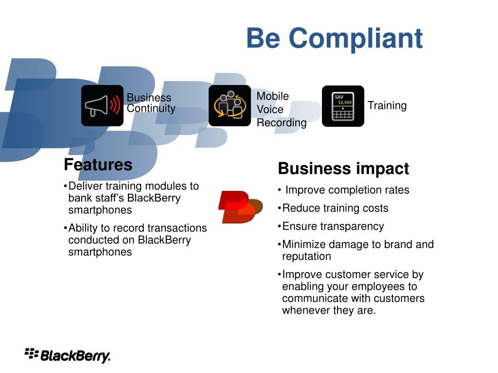 Be Compliant