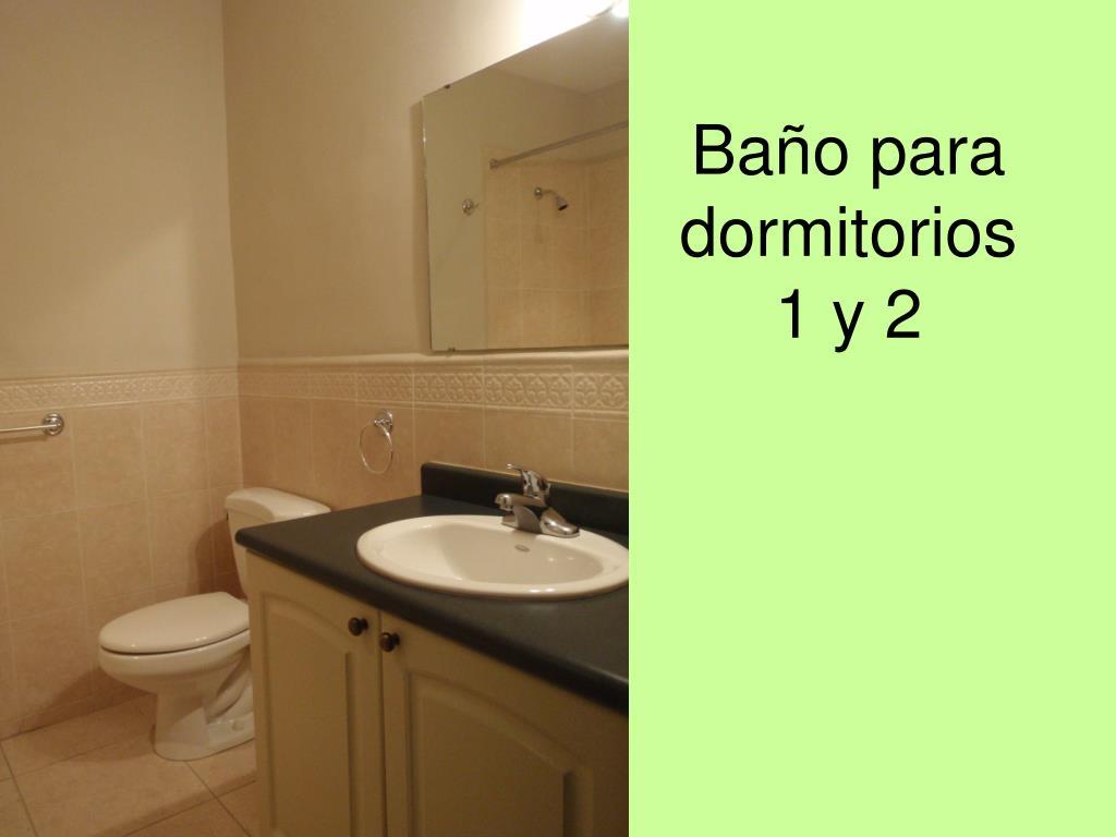 Baño para dormitorios