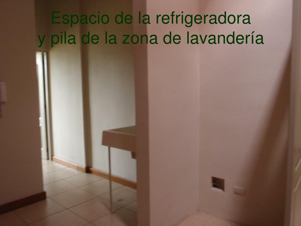 Espacio de la refrigeradora