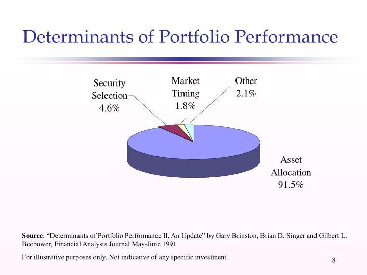 Determinants of Portfolio Performance