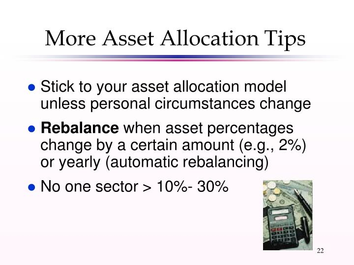 More Asset Allocation Tips
