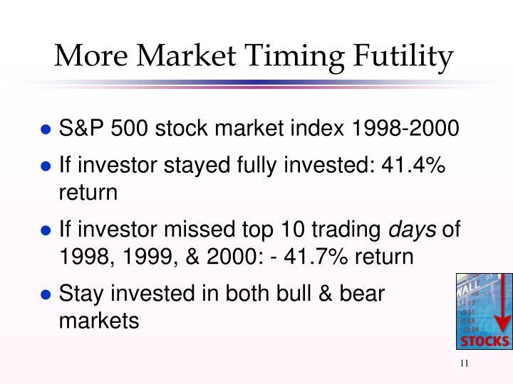 More Market Timing Futility