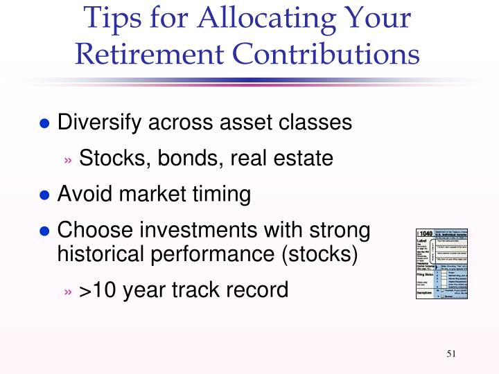 Tips for Allocating Your Retirement Contributions