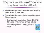 why use asset allocation to increase long term investment results