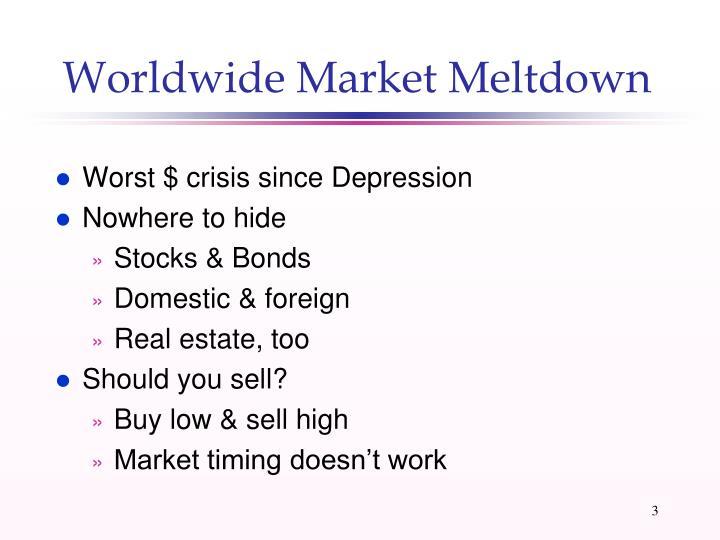 Worldwide Market Meltdown
