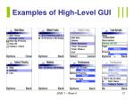 examples of high level gui