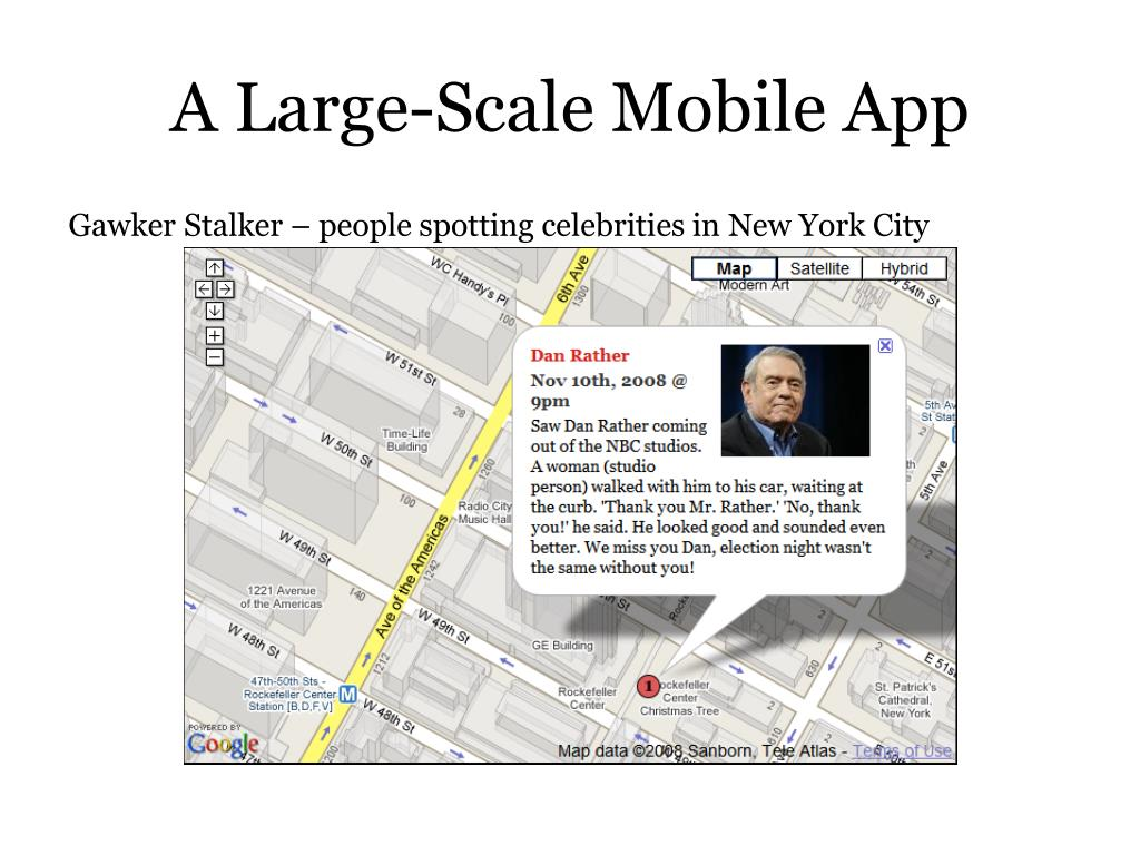 A Large-Scale Mobile App