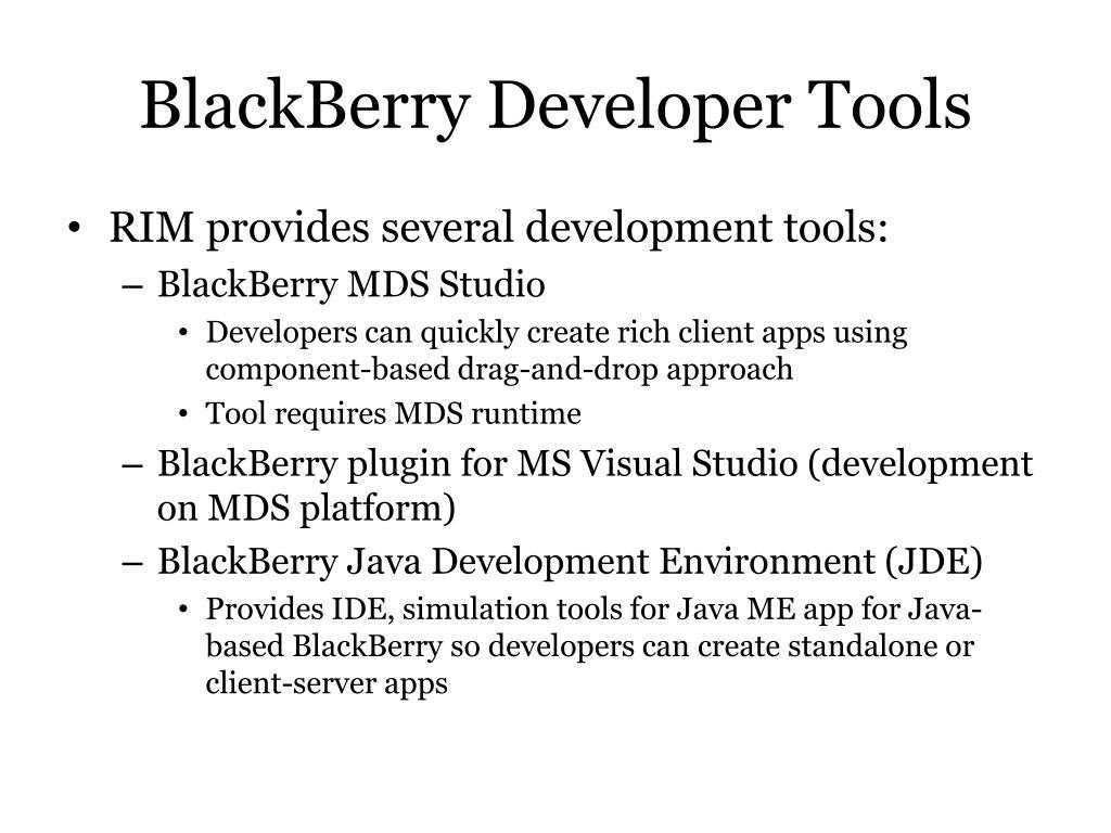 BlackBerry Developer Tools