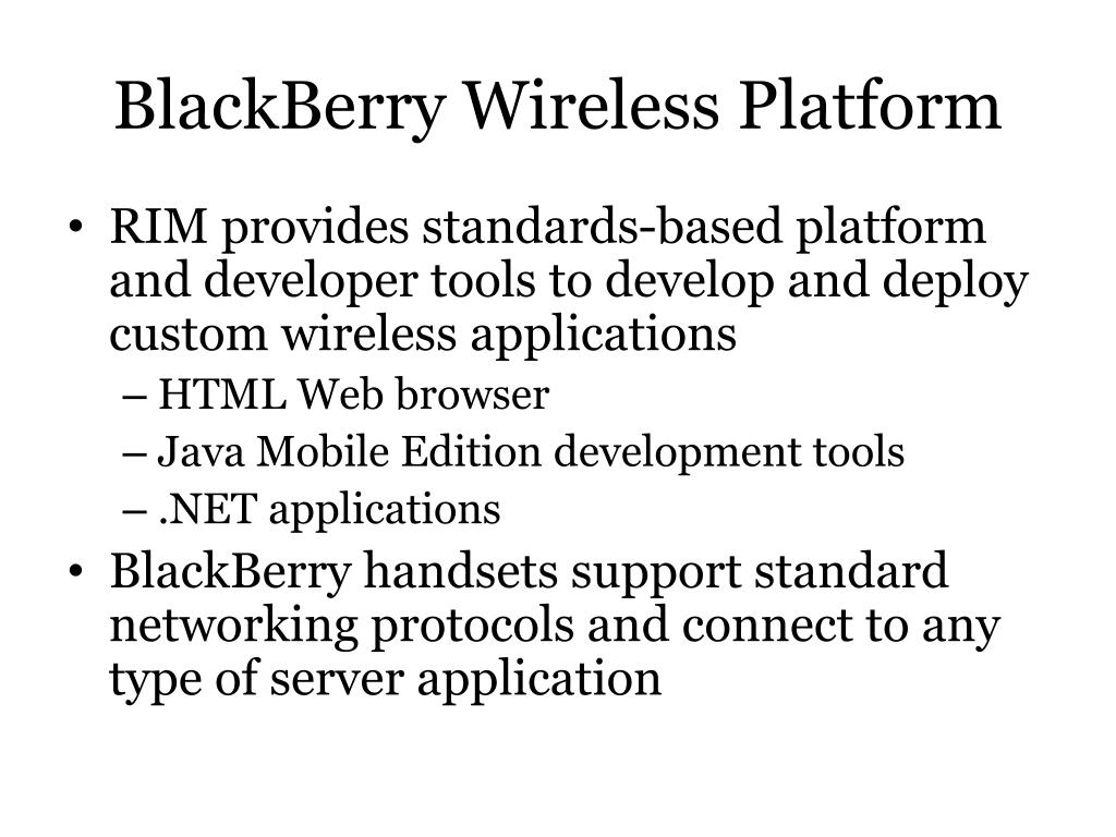 BlackBerry Wireless Platform