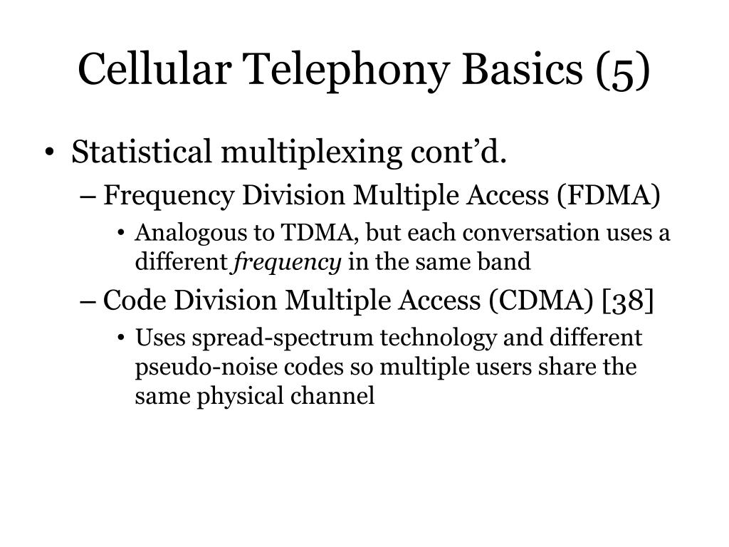 Cellular Telephony Basics (5)