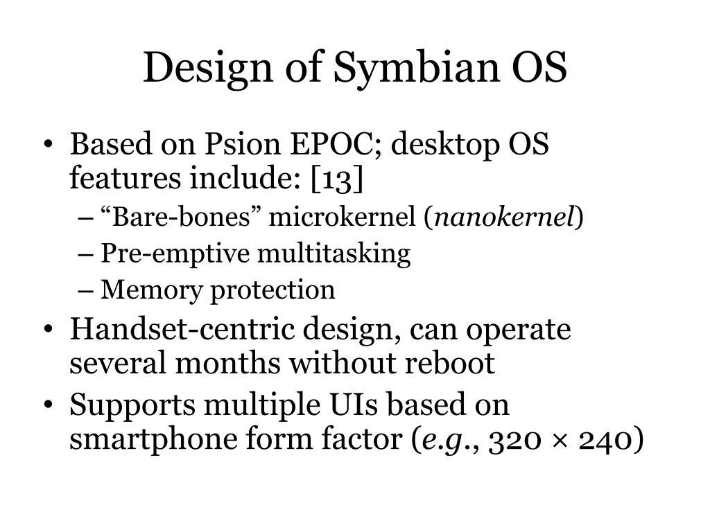Design of Symbian OS