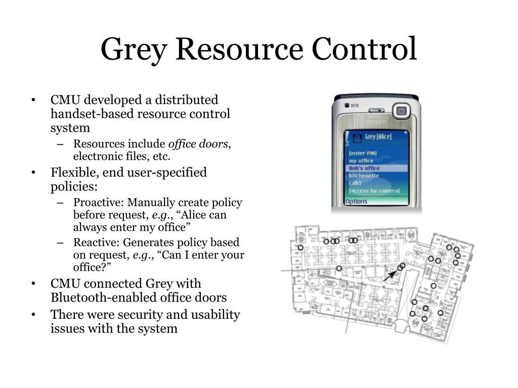 Grey Resource Control