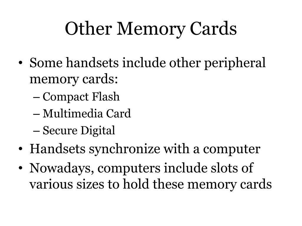 Other Memory Cards