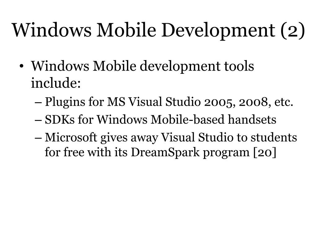 Windows Mobile Development (2)