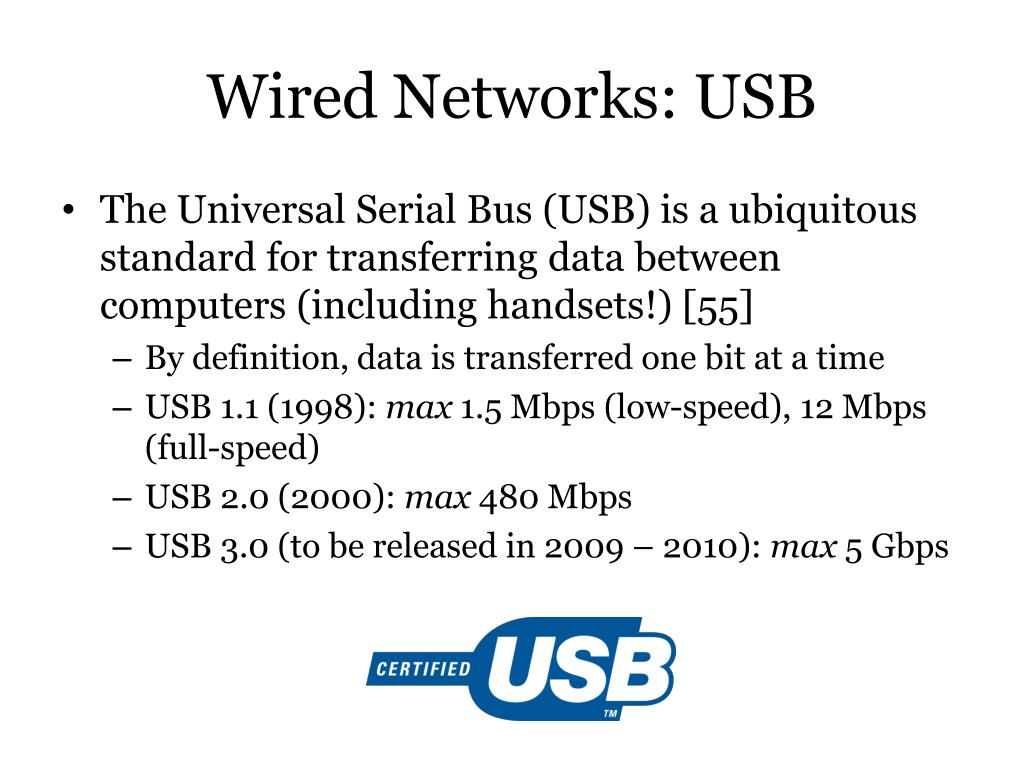 Wired Networks: USB