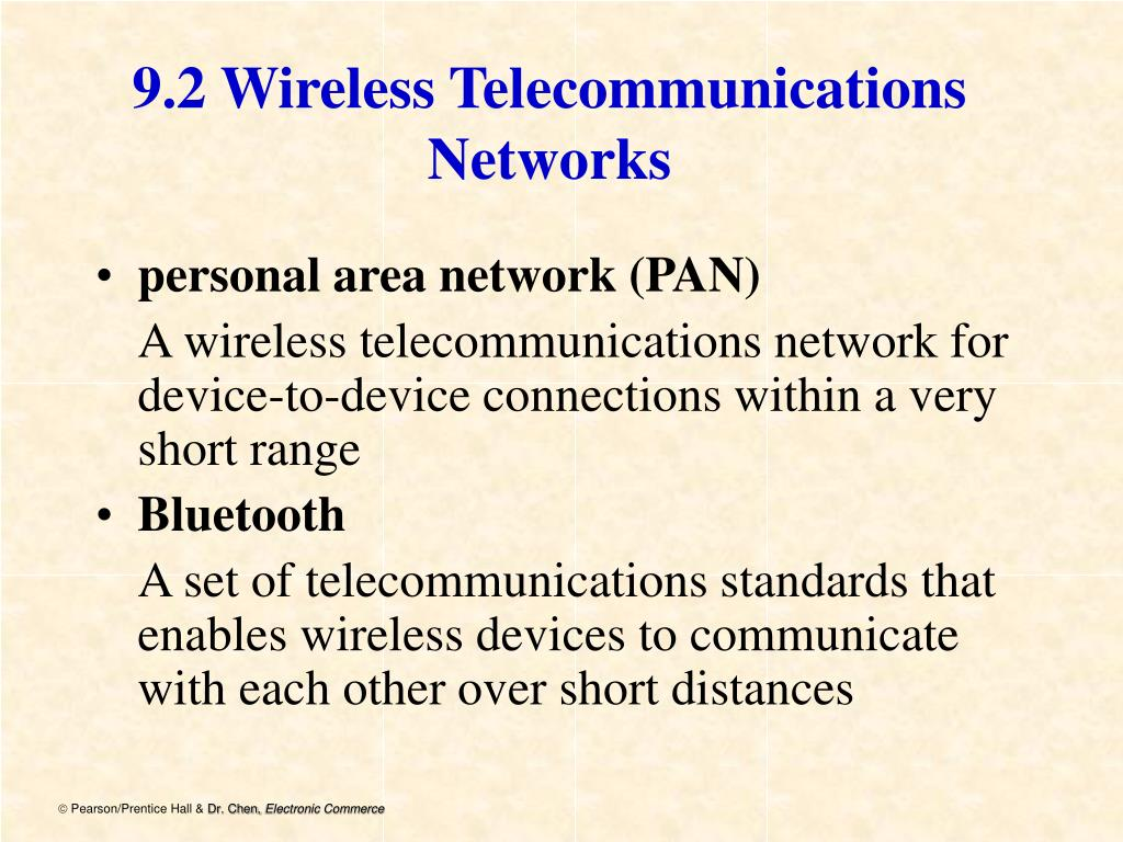 9.2 Wireless Telecommunications Networks