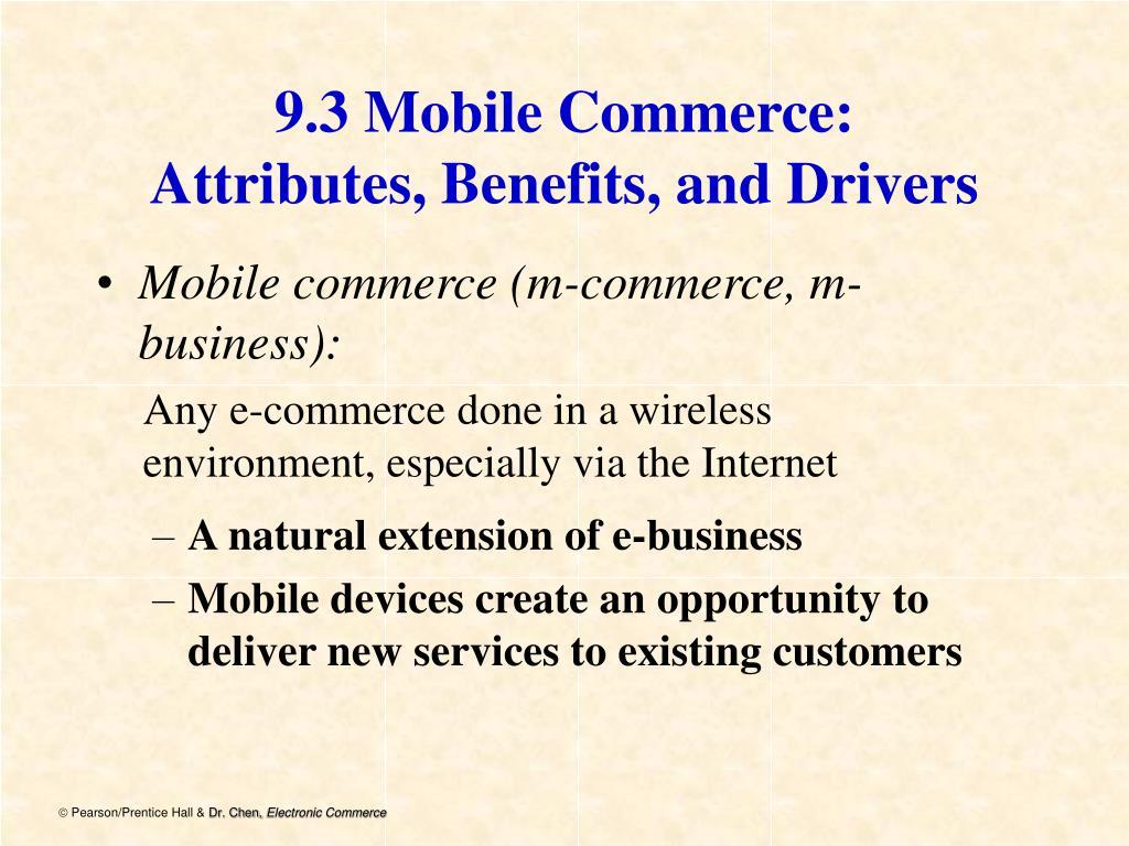 9.3 Mobile Commerce: