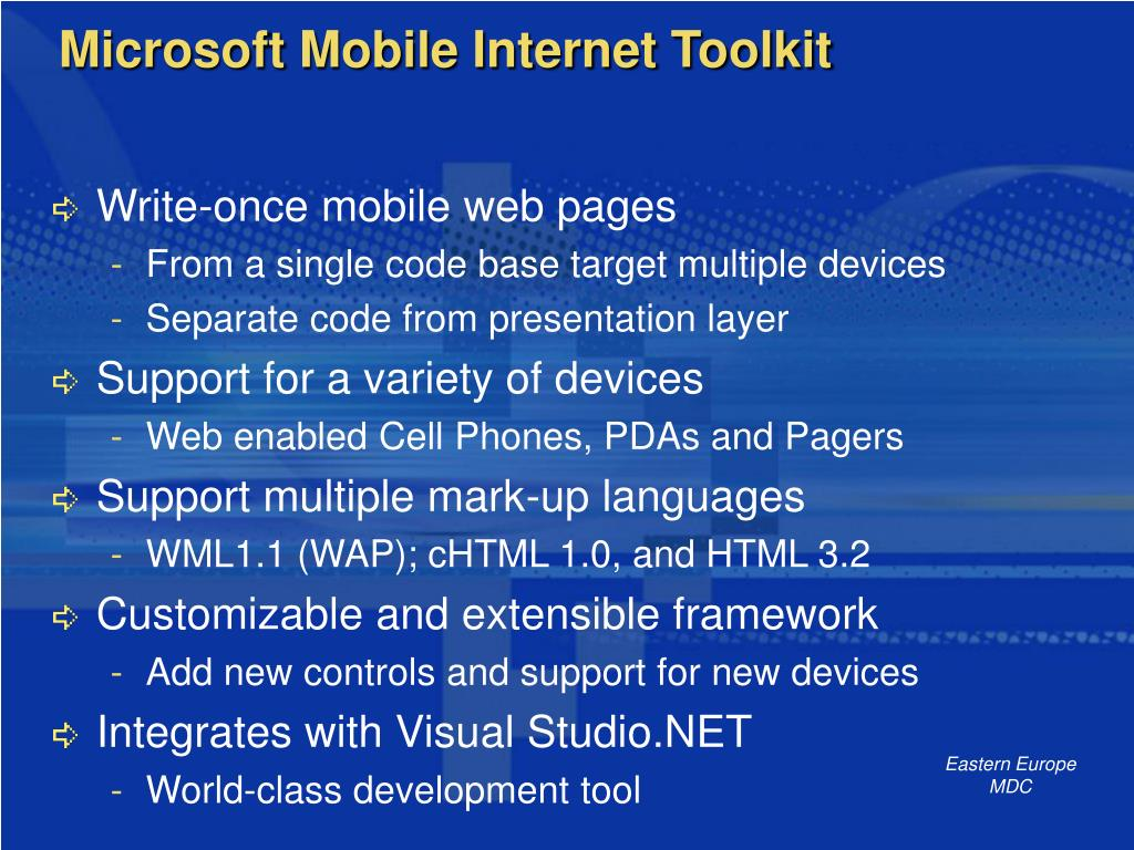 Microsoft Mobile Internet Toolkit