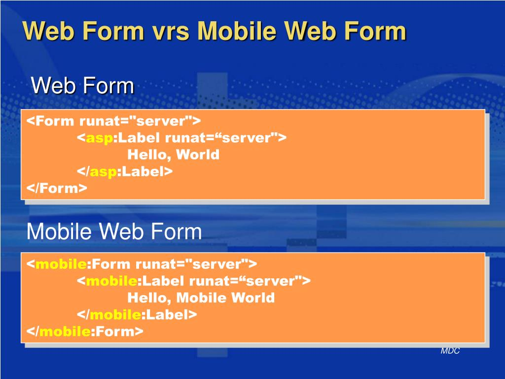 Mobile Web Form