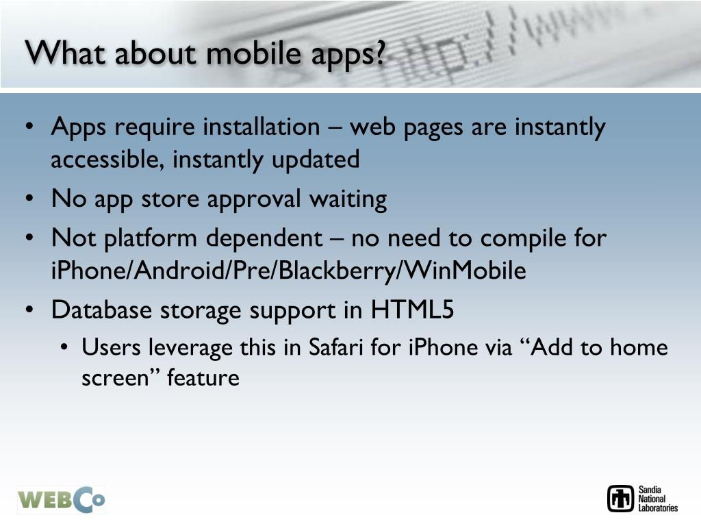 What about mobile apps?