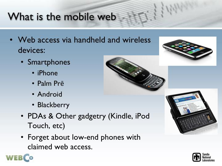 What is the mobile web l.jpg