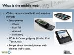 what is the mobile web