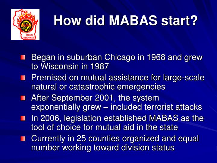 How did MABAS start?
