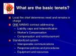 what are the basic tenets