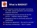 what is mabas