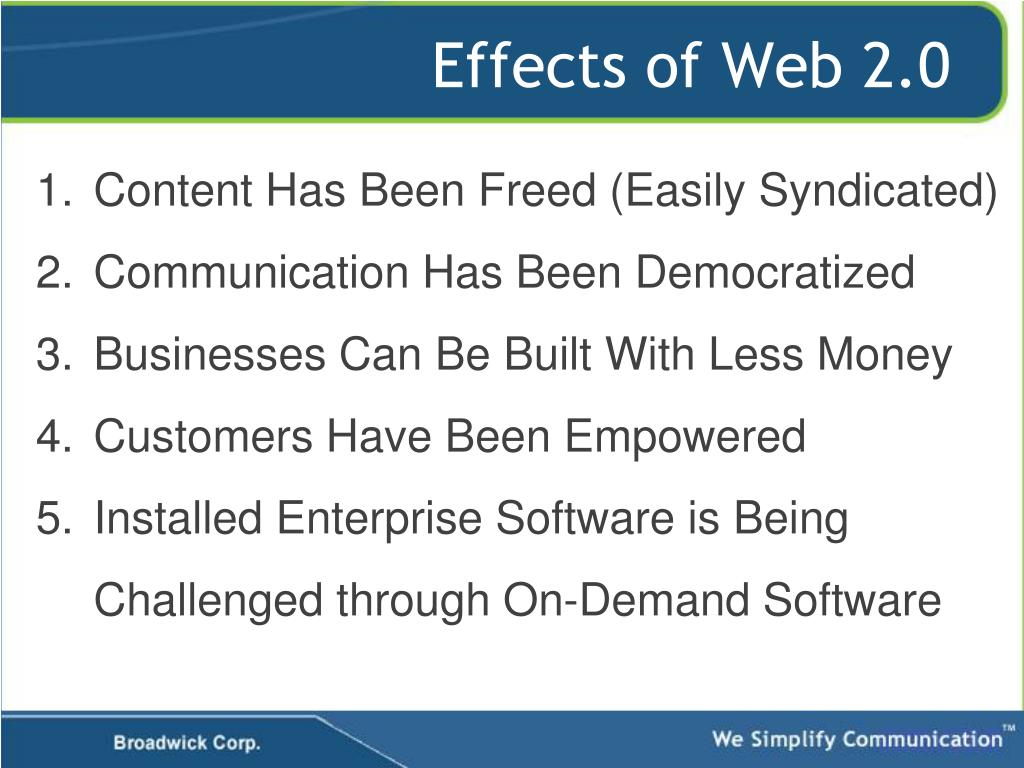 Effects of Web 2.0