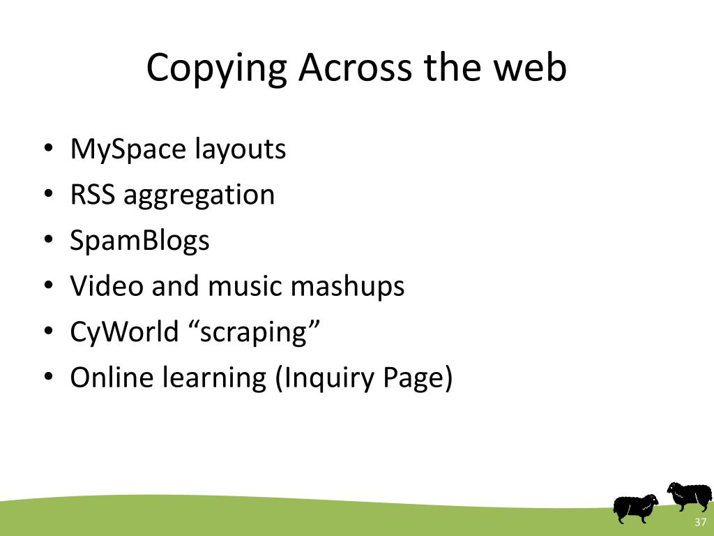 Copying Across the web
