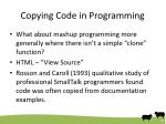 copying code in programming