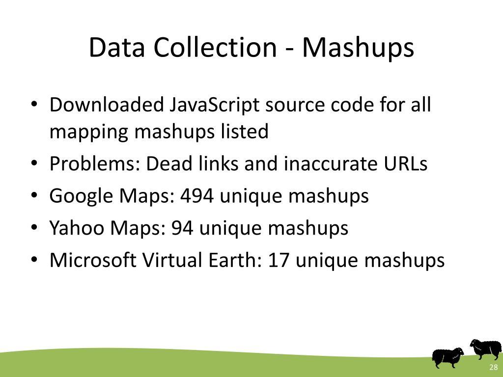 Data Collection - Mashups