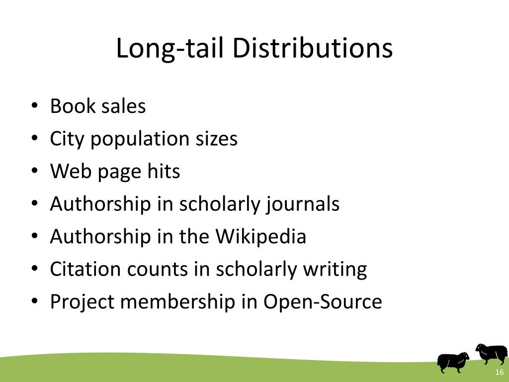 Long-tail Distributions