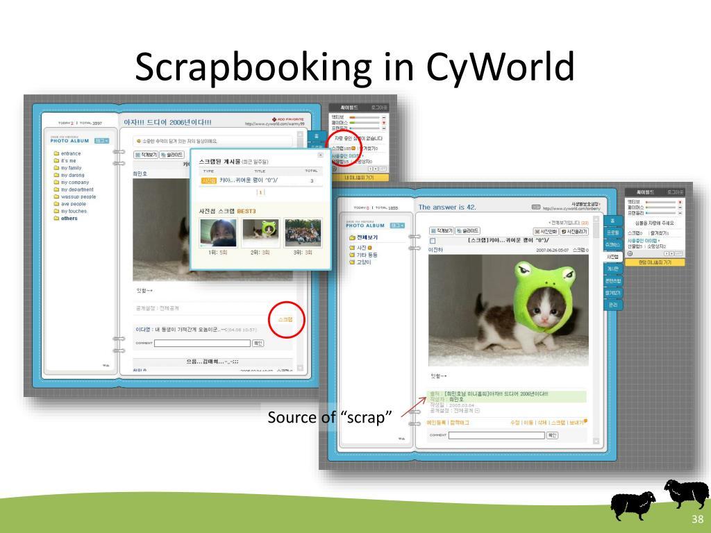 Scrapbooking in CyWorld