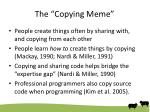 the copying meme