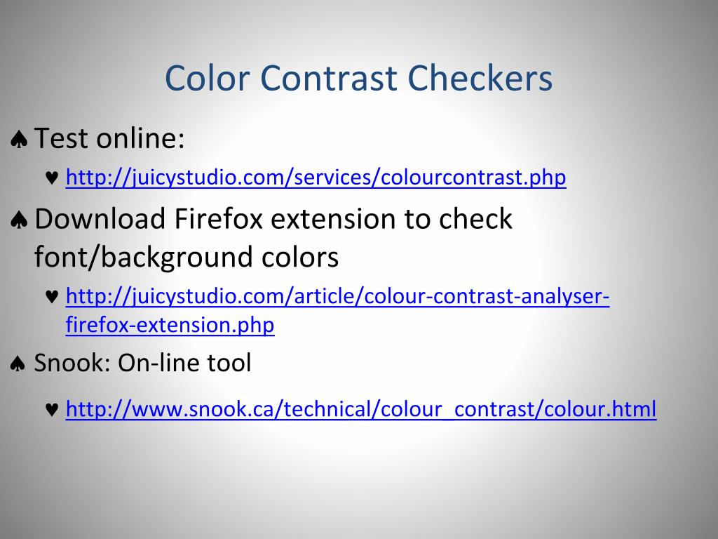 Color Contrast Checkers