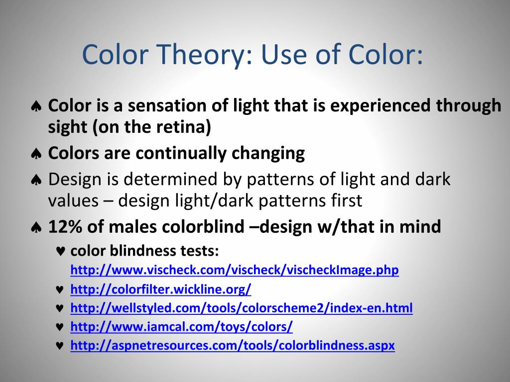 Color Theory: Use of Color: