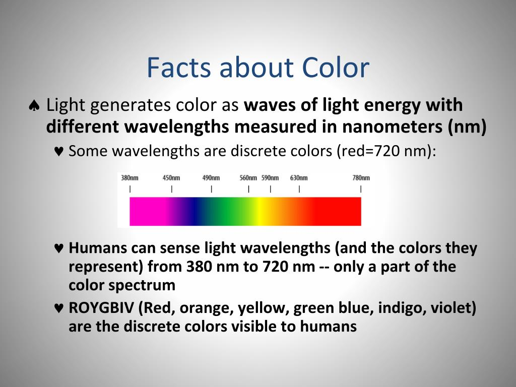 Facts about Color