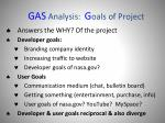 gas analysis g oals of project