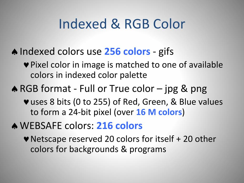 Indexed & RGB Color