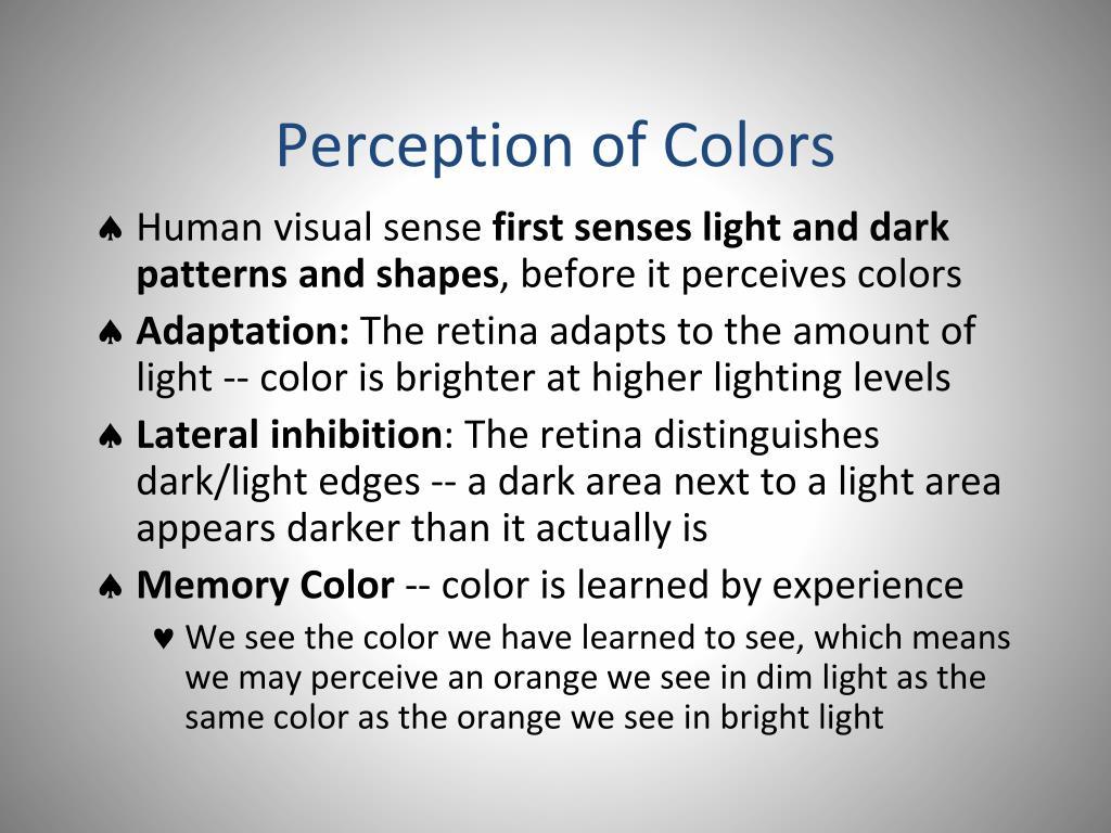 Perception of Colors