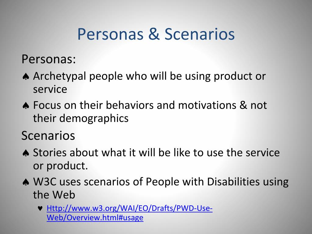 Personas & Scenarios